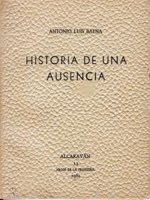 """Portada del libro """"Historia de una ausencia"""" (1961)"""