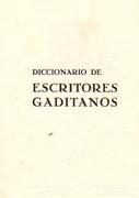 DICCIONARIO DE ESCRITORES GADITANOS